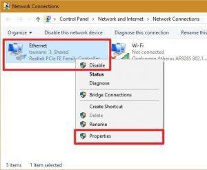 הגדרות DNS במחשב
